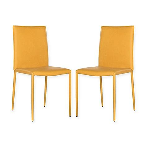 safavieh karna dining chair buy safavieh karna 19 quot h dining chair in antique yellow