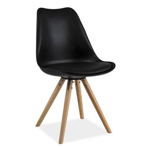 chaise pieds bois chaise scandinave dsw design eames 4 pieds bois blanc