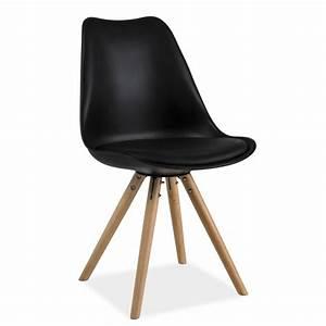 Chaise Scandinave Noir : chaise scandinave dsw design eames 4 pieds bois blanc noir gris erie ~ Teatrodelosmanantiales.com Idées de Décoration