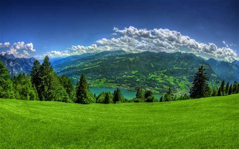 Beautiful Mountain View Wallpaper Hd Wallpaper