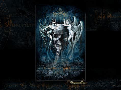 gothic skulls wallpaper wallpapersafari