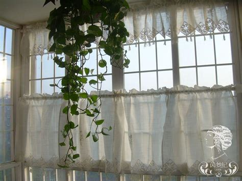 set of country lace crochet cafe kitchen curtain