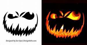 10, Free, Scary, Halloween, Pumpkin, Carving, Patterns, Stencils, U0026, Ideas, 2014