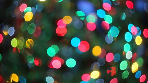 Lights Blurred Bokeh Background From