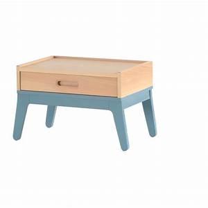 Table De Nuit Fille : table de nuit bleu nobodinoz design enfant ~ Melissatoandfro.com Idées de Décoration