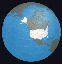 World Globe United States Map