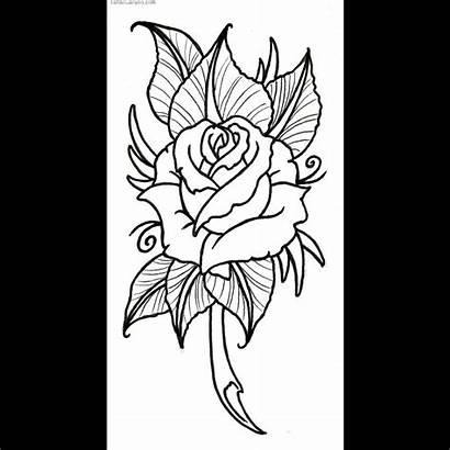 Outline Tattoo Rose Designs Clipart Vikingtattoo Skull