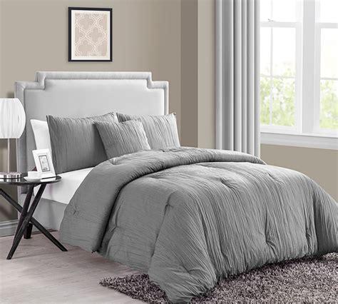gray comforter sets king buy king size comforter sets crinkle 4pc king