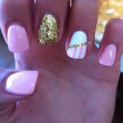 Pink and gold nail designs cute easy ideas