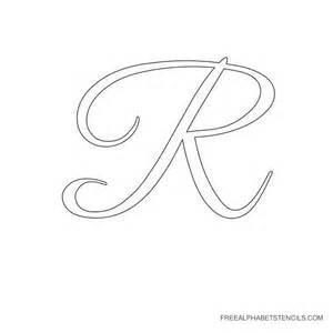 Free Printable Cursive Letter Stencils