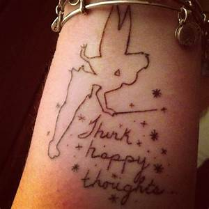 Tinkerbell tattoo with my moms handwriting #