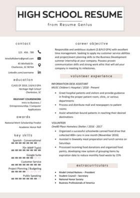 college student resume sample writing tips resume genius
