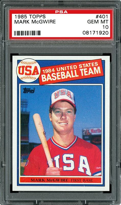 Identify the baseball cards in your collection. 1985 Topps Baseball Cards - PSA SMR Price Guide