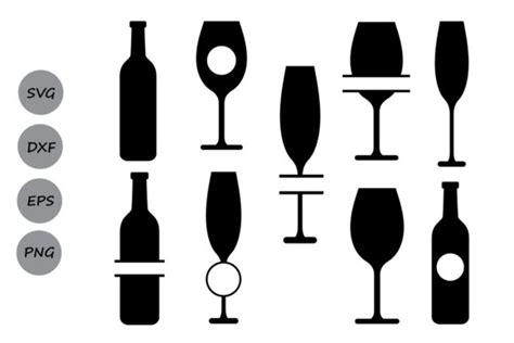 wine glass monogram svg graphic  cosmosfineart creative fabrica