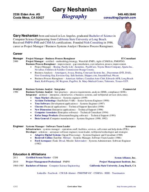 Boeing Resume Login by Curriculum Vitae