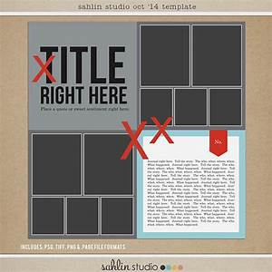 FREE Digital Scrapbooking Template – October 2014 | Sahlin ...