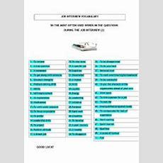 Job Interview Vocabulary  Esl Worksheet By Ajiehka