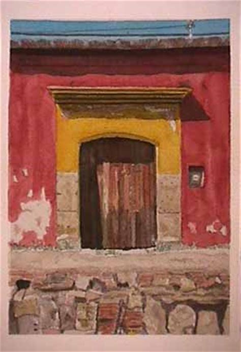 oaxaca series  james burnett mexico watercolor item