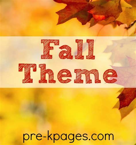 fall theme preschool activities 449 | preschool fall theme