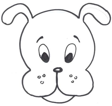 Hd-dog-mask-template.jpg 536×507 Pixels