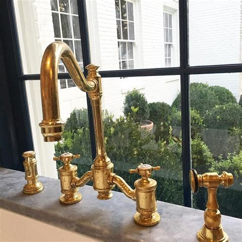 pin  kristy  kitchen  dining   gold faucet