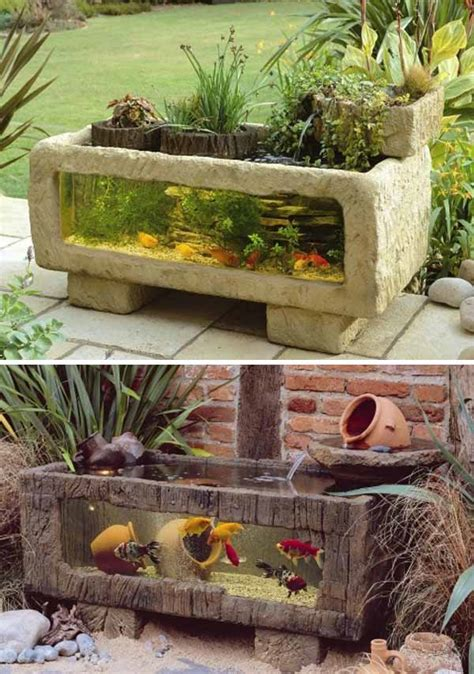 outdoor fish ponds wow 22 small garden or backyard aquarium ideas will blow your mind scaniaz