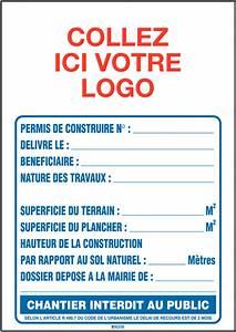 Panneau De Permis De Construire : panneau de permis de construire en akylux seton fr ~ Dailycaller-alerts.com Idées de Décoration