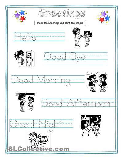 greetings for kids worksheet free esl printable worksheets made by teachers esl pinterest