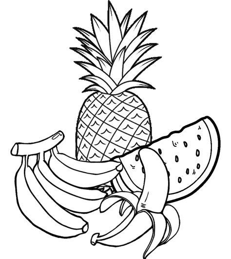 50 Desenhos de Frutas para Colorir e Imprimir Online