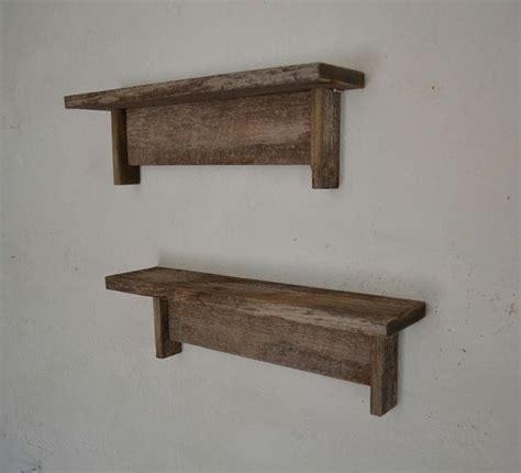 wood shelving reclaimed gray wood shelves rustic pair 18 wide 4