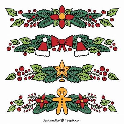 Christmas Ornaments Drawn Hand Floral Vector Tree
