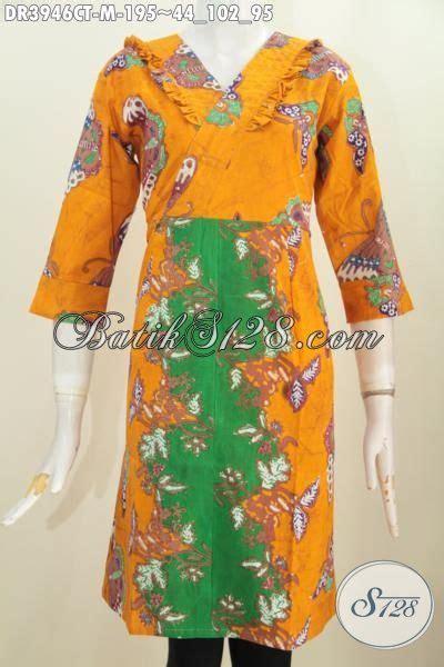 produk baju dress cantik warna kuning kombinasi hijau