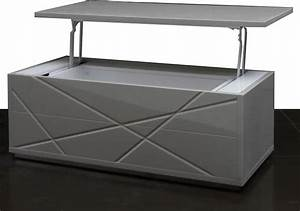 modern gray lacquer convertible coffee table with storage With grey coffee table with storage