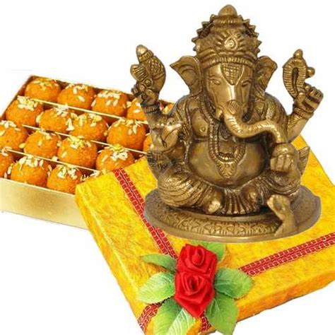 Laddoo Ganesha Surprise Brass Ganesh Idol 1399