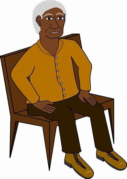 Clipart Sitting Wise Person Transparent Weiser Sitzen
