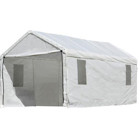 shelterlogic outdoor canopy  enclosure  windows ftl  ftw white model