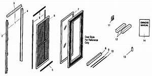 Sears 36 U0026quot  X 80 U0026quot  Best Fullite Black Storm  Screen Door Parts