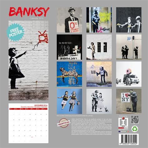 banksy street art calendars europosters