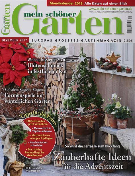 Mein Schöner Garten by Mein Sch 214 Ner Garten 12 2017 Zeitungen Und Zeitschriften