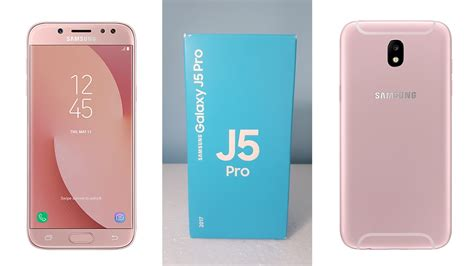 samsung galaxy j5 pro indonesia unboxing review pink youtube