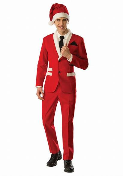 Santa Christmas Suit Costume Claus Mens Costumes