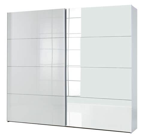armoire 2 portes coulissantes attimi blanc miroir