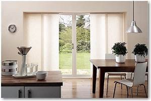 Blindscom brand sheerweave sliding panels modern for Kitchen sliding door blinds