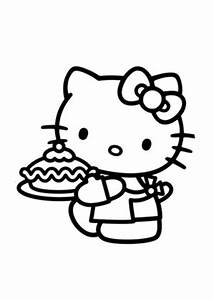 Ausmalbilder Mimmy Beim Kuchenbacken Hello Kitty