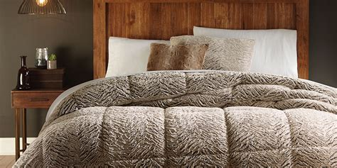 cannon faux fur comforter brown