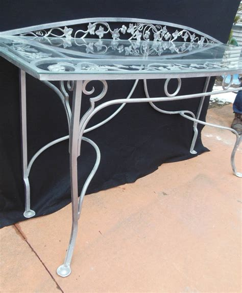 vintage salterini wrought iron console table for sale at