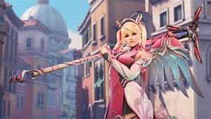 Overwatch Pink Mercy Skin To Support Breast Cancer