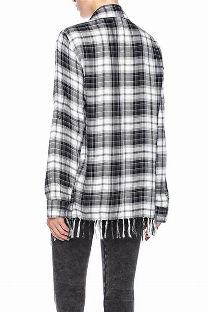 Fringe Plaid Shirt Willow Clay Shoptiques