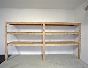 ana white easy and fast diy garage or basement shelving With how to make garage shelves