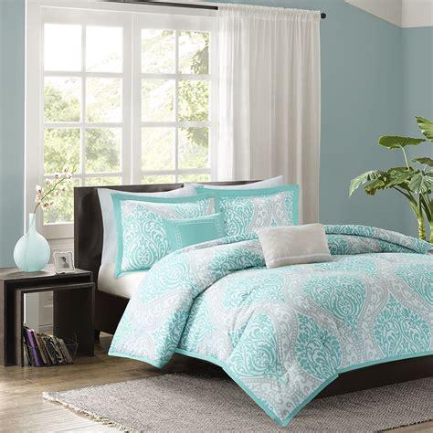 light blue and grey bedding beautiful chic aqua teal light blue grey comforter set